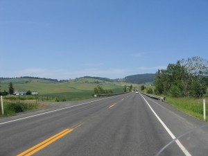 US Highway 95 South of Moscow