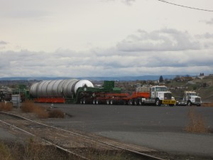 Omega Morgan Tar Sands Megaload at Port of Wilma 11-8-13