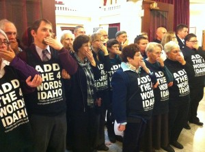 Add The Words Protest at Idaho Capitol 2-3-14