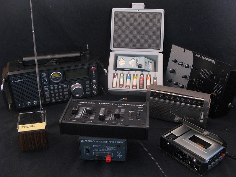 All sorts of electronic audio gear